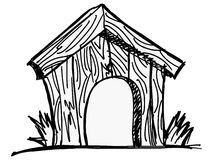 Förfölja huset Arkivbild
