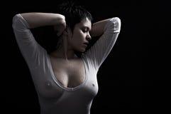 förförisk kvinna Fotografering för Bildbyråer