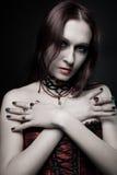 Förförisk vampyr Arkivbild