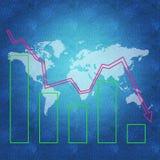 Begrepp för världsekonomi Arkivbild