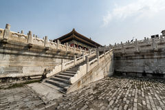 Förfalla den områdesForbidden City Peking Kina Royaltyfri Bild