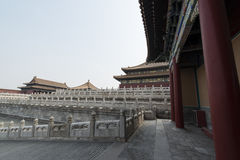 Förfalla den områdesForbidden City Peking Kina Arkivfoton