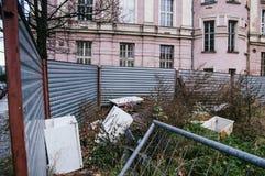 Förfalla stads- plats Fotografering för Bildbyråer