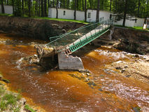 förfallen översvämning för skada till Arkivbilder