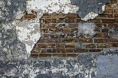 Förfallen bakgrund för tegelstenvägg arkivfoton