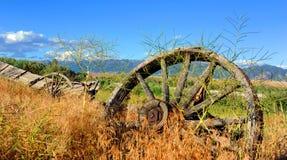 Förfallen gammal västra vagn Royaltyfri Fotografi
