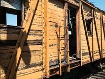 Förfallen järnvägbil fotografering för bildbyråer