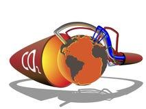 förfallet globalt för co2 till värme Arkivfoton