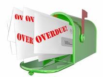 Förfallna Bill Letter Invoice Message Mailbox Fotografering för Bildbyråer