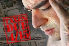 förfallna over belastade skatter Royaltyfria Bilder