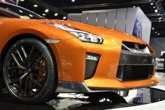 Förfalska-legeringen rullar, Nissan GT-R den högvärdiga upplagan på den 39th BANGKOK INTERNATIONALMOTORN SHO royaltyfria bilder
