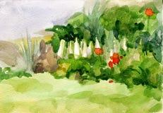 författare blommar vattenfärg för I-målningsbild stock illustrationer