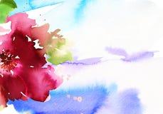 författarekortet blommar hälsning som jag föreställer vattenfärg Arkivfoton