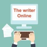 Författaren Online Royaltyfria Foton