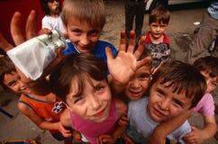 Förflyttat folk för serb internt från Kosovo, Serbia arkivbild