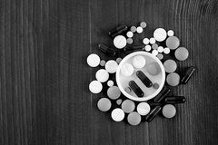Förgifta apotek förbjudit förpacka för viktmedicin av minnestavlan Royaltyfri Fotografi