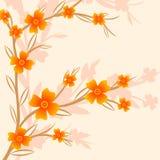 Förgrena sig av en växt stock illustrationer