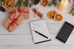 Förgrena sig dekorativ gran för julbakgrundsgräsplan gåvaträbakgrund Royaltyfri Bild