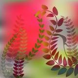 Förgrena sig den röda och gröna bakgrunden Arkivbild