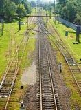 förgrena sig järnväg royaltyfria foton