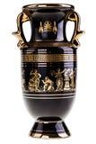 Förgylld grekisk vas royaltyfria foton