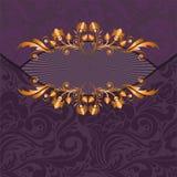 förgylld purple för dekor stock illustrationer