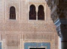 Förgyllt rum (den Cuarto doradoen) på Alhambra Arkivbilder