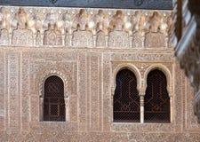 Förgyllt rum (den Cuarto doradoen) på Alhambra granada spain Arkivfoton