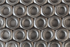 Förhäxa metallmuttern Fotografering för Bildbyråer