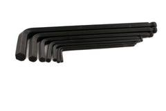 Förhäxa tangenten Allen Wrench Set på vit bakgrund Royaltyfri Bild