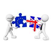 Förhållande för Europa - England figursåganslutning Royaltyfri Bild