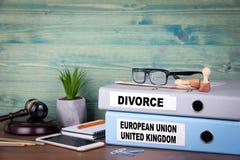 Förhållande för europeisk union och Förenade kungariket Politik- och affärsförbindelse royaltyfria foton