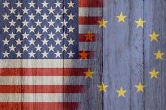 Förhållande mellan USA och den europeiska unionen Royaltyfria Bilder