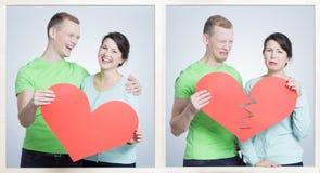 Förhållandet och bryter upp fotografering för bildbyråer
