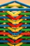 förhöj ungeexpertis till wood toys Royaltyfria Bilder
