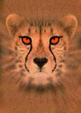 förhöjd cheetah royaltyfri illustrationer