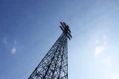 Förhöjningelektricitetspriser elektricitetspylon, elektricitetsbegreppsbakgrund royaltyfri bild
