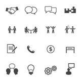 Förhandlingsymboler Arkivfoton