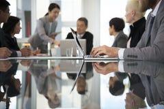 Förhandsmöte för presentation för affärsdiskussionsmöte arkivfoto