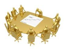 förhandsmötelokal vektor illustrationer