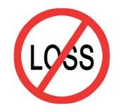 Förhindra förlust stock illustrationer