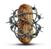 Förhindrande för matallergi vektor illustrationer