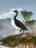 Förhistorisk fågel med tänder stock illustrationer