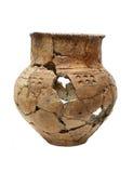 förhistorisk forntida bruten kruka Royaltyfria Bilder