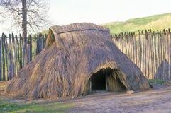 Förhistorisk kulle, Cahokia, Illinois Arkivfoto
