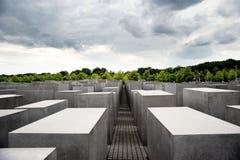 Förintelseminnesmärke i Berlin, Tyskland Fotografering för Bildbyråer