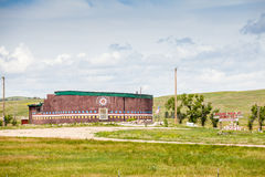 Förintelsemuseet på det sårade knäet, sörjer Ridge Indian Reservation, Fotografering för Bildbyråer