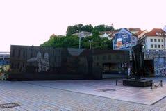 FörintelsevictimsÂminnesmärke i Bratislava Arkivfoto