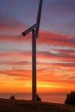 Förkänsla av vind på soluppgång Fotografering för Bildbyråer