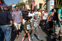 förklätt åka skridskor för flickor Royaltyfria Foton